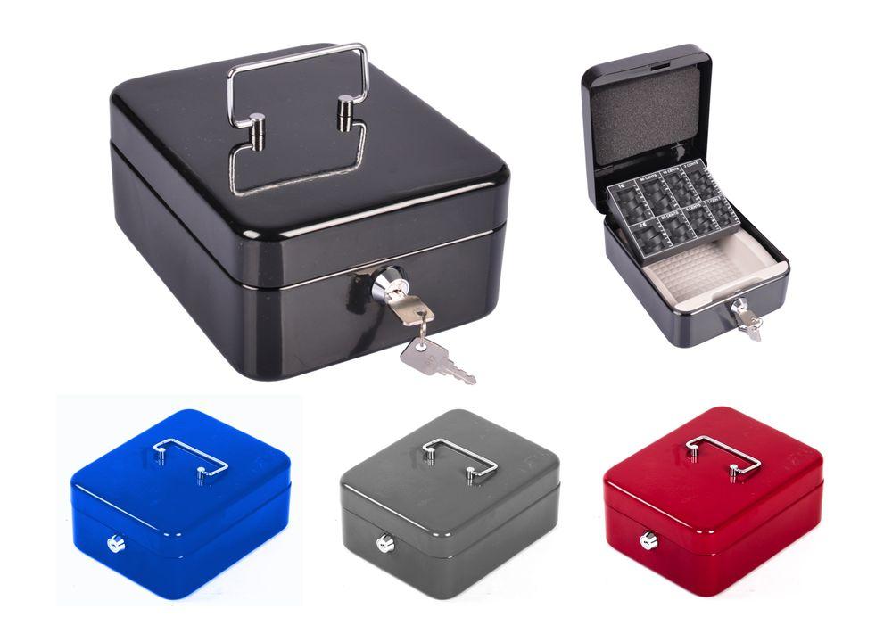 Stahl Geldkassette abschließbar Geldkasse Münzkassette Münzeinsatz Sparschwein – Bild 1