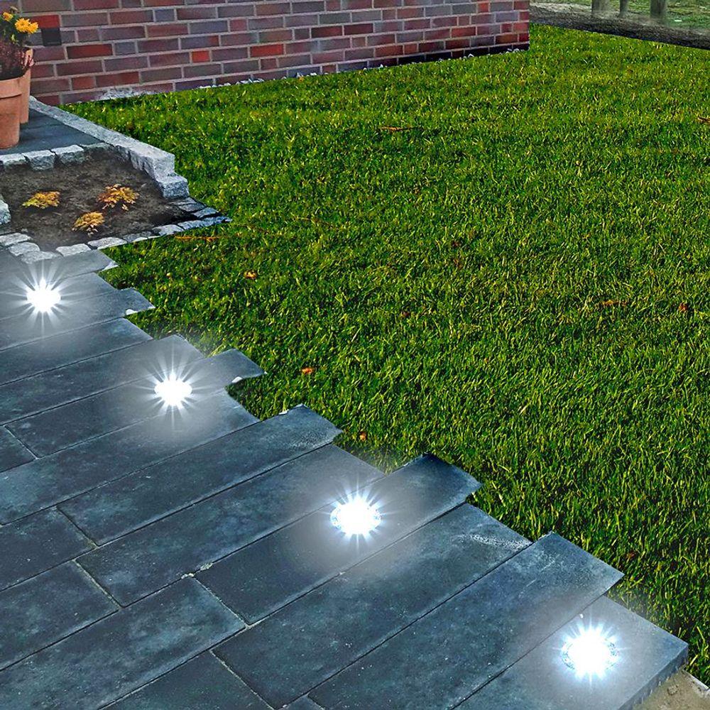 10x LED Solar-Bodeneinbauleuchte Bodenstrahler Bodeneinbaustrahler Solarlampen – Bild 5