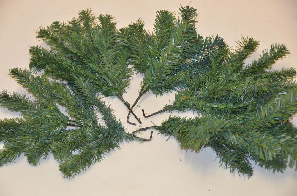 Tannenzweig Dekozweig künstliche Zweige Weihnachtsdekoration Tannengrün Deko – Bild 4