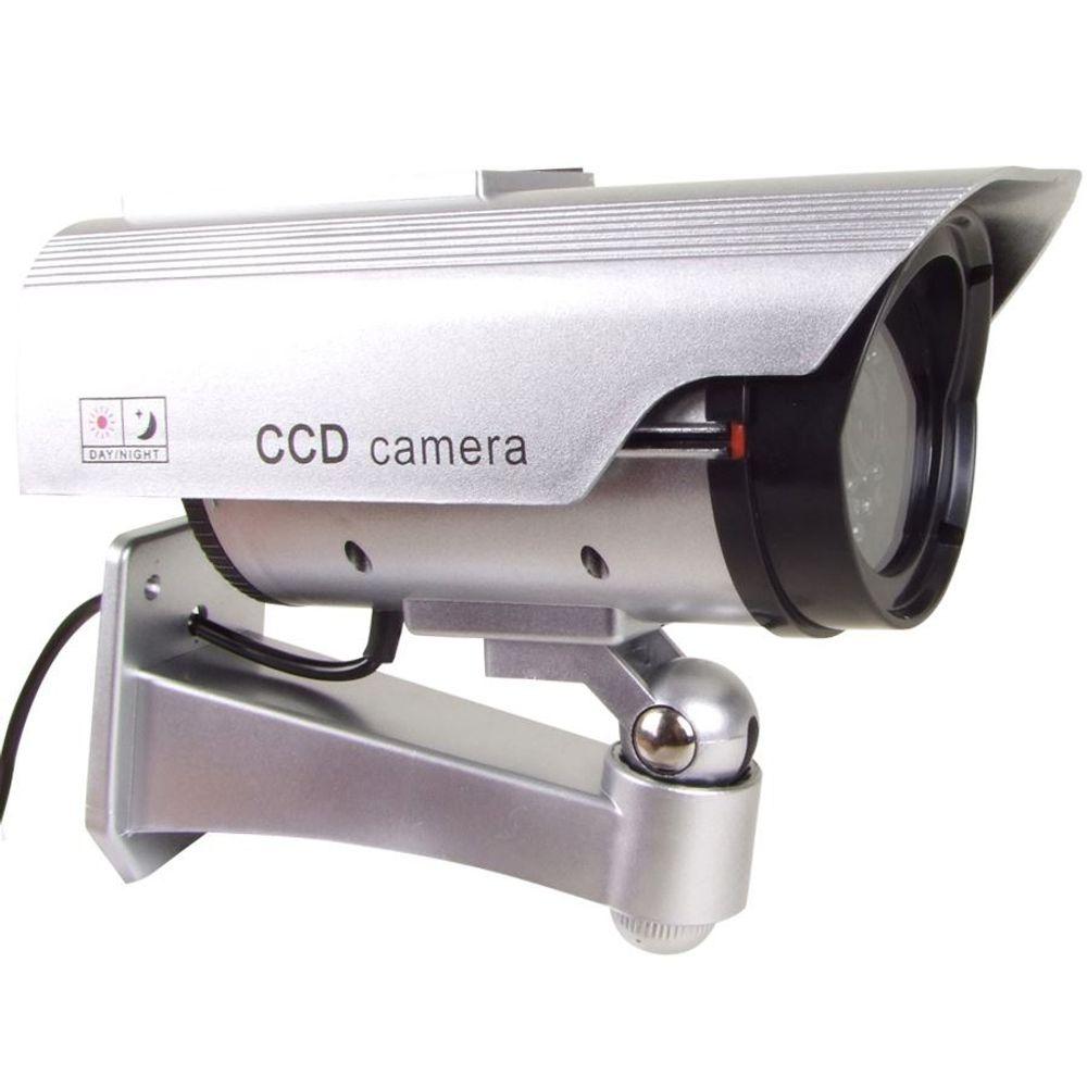 Überwachungskamera Attrappe mit LED und Solar – Bild 2