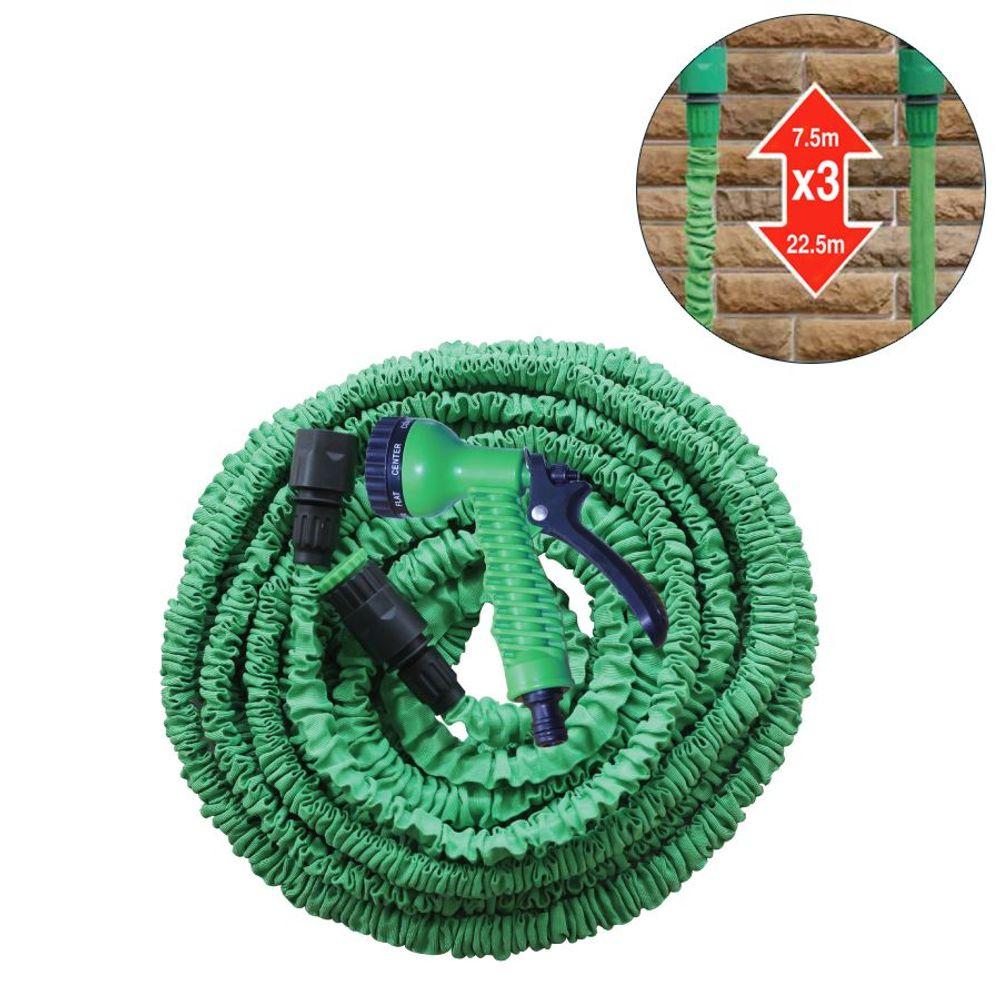 Flexischlauch 22,5m Gartenbrause Gartenschlauch Wasserschlauch dehnbar Schlauch – Bild 3