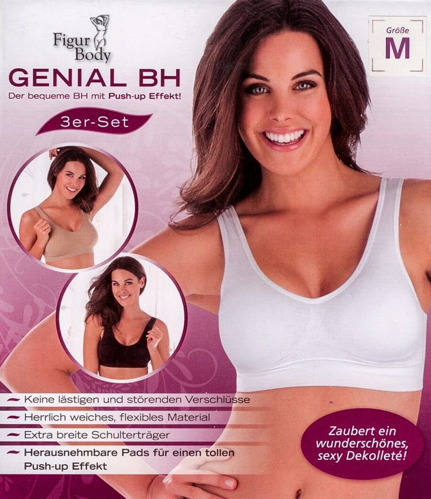 Figur Body Genial BH 3er-Set Bustier Büstenhalter Push Up  – Bild 2