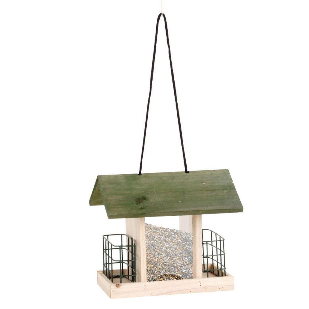 Vogelfutterhaus Vogelstation Futterspender Futterkrippe Futterhaus Vogelhäuschen – Bild 1