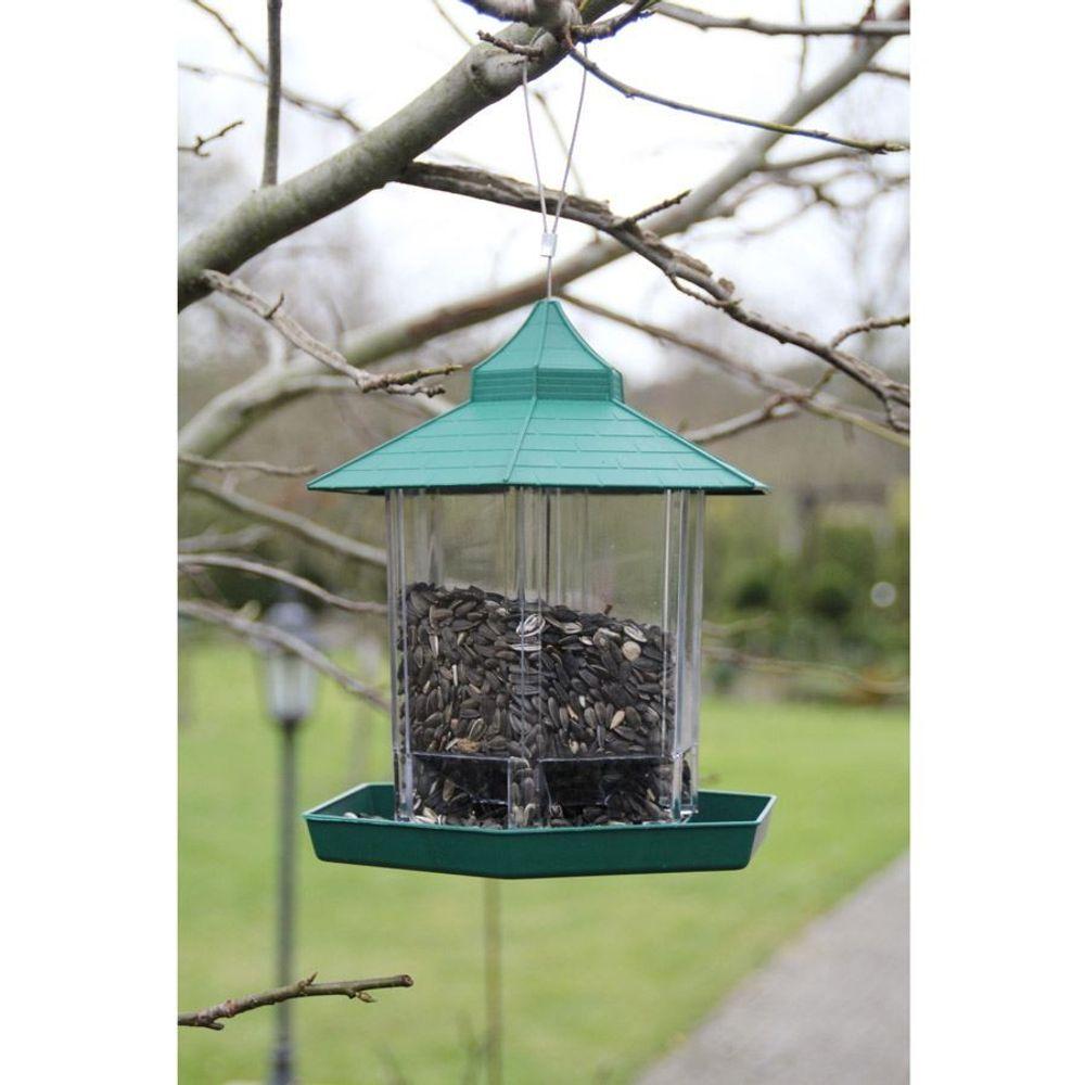 Vogelfutterhaus Vogelfutterspender Vogelfutterstelle Futterstation Futterspender – Bild 1