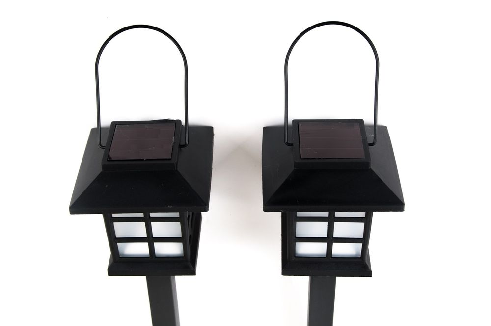 LED Solarlampen 2er-Set Solarlaterne Gartenlaterne Gartenleuchte Solarleuchte – Bild 6