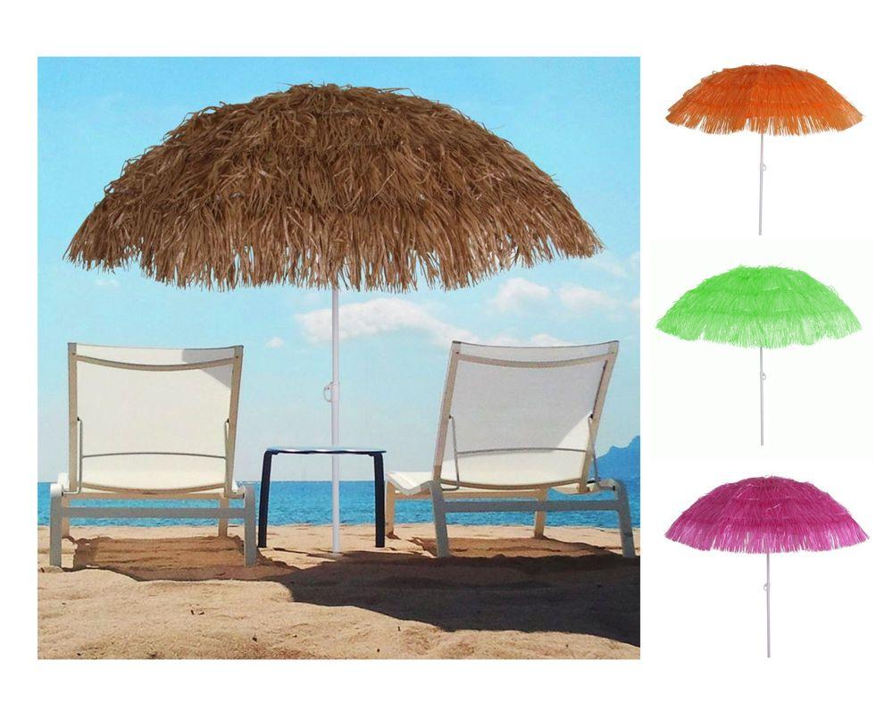 Bast-Sonnenschirm Strandschirm Hawaiischirm Gartenschirm Party Schirm Bastschirm – Bild 1