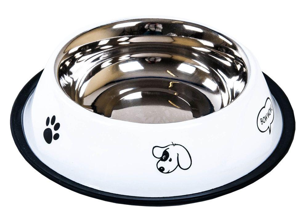 Edelstahl-Fressnapf Ø 21,5cm antirutsch Trinknapf Saufnapf Wassernapf Hund Katze – Bild 3