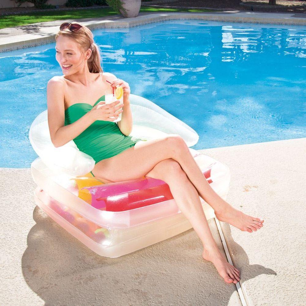 Bestway Schwimmsessel Lounge Wasserinsel Luftmatratze Poolliege Luftsessel Sofa – Bild 3
