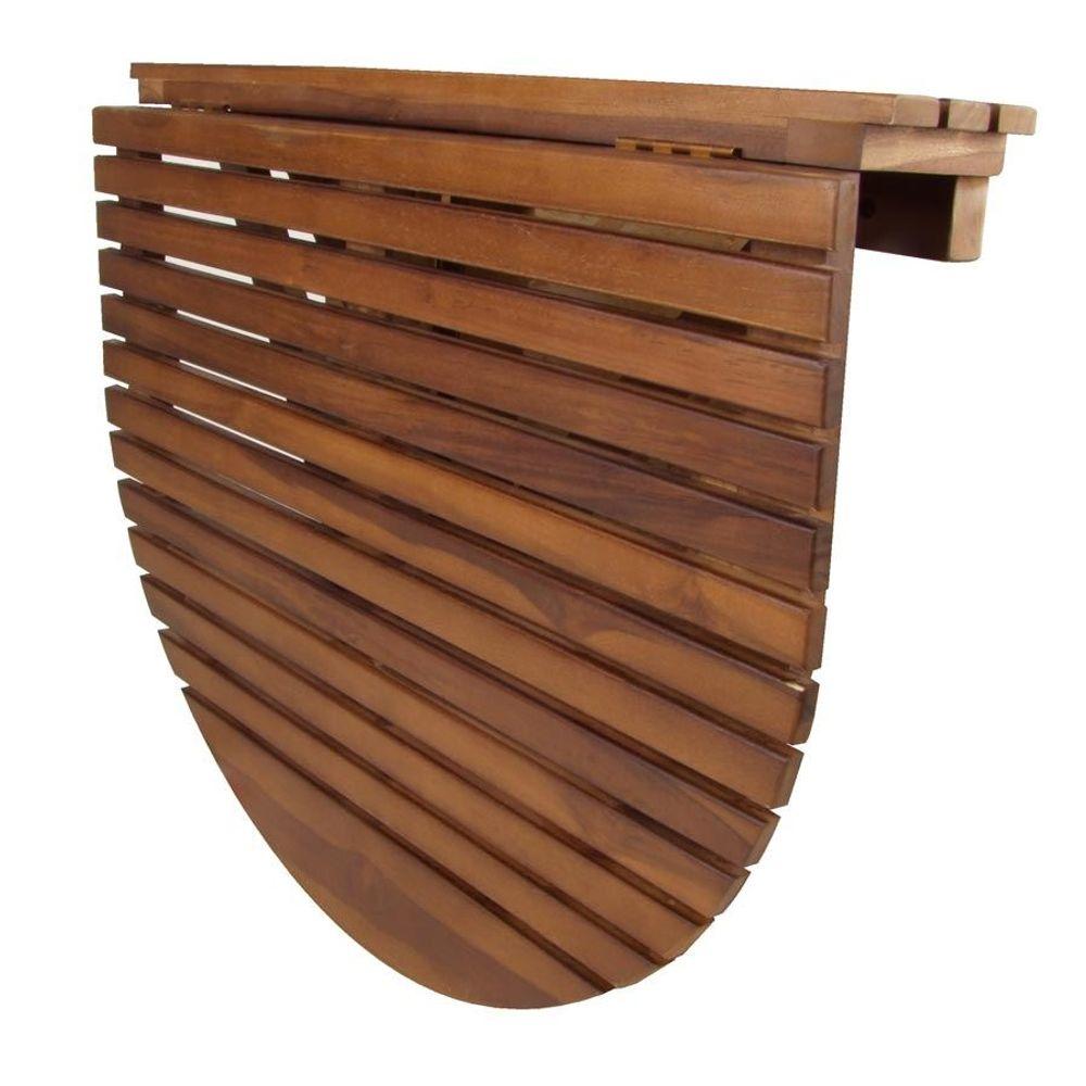 Teakholz Wandklapptisch Wandtisch Klapptisch Esstisch Küchentisch Balkontisch – Bild 2