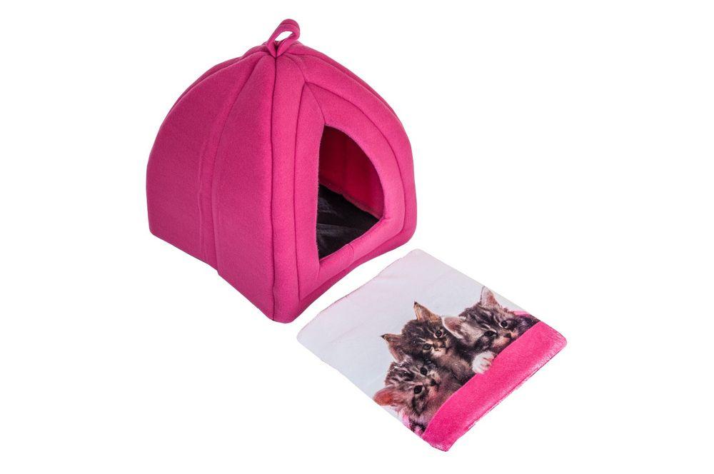 Katzenhöhle mit Fotodruck Katzenhütte Katzenbett Katzenkorb Katzenzelt Fleece – Bild 6