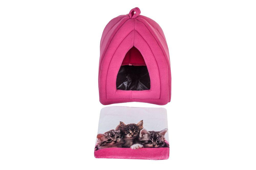 Katzenhöhle mit Fotodruck Katzenhütte Katzenbett Katzenkorb Katzenzelt Fleece – Bild 7