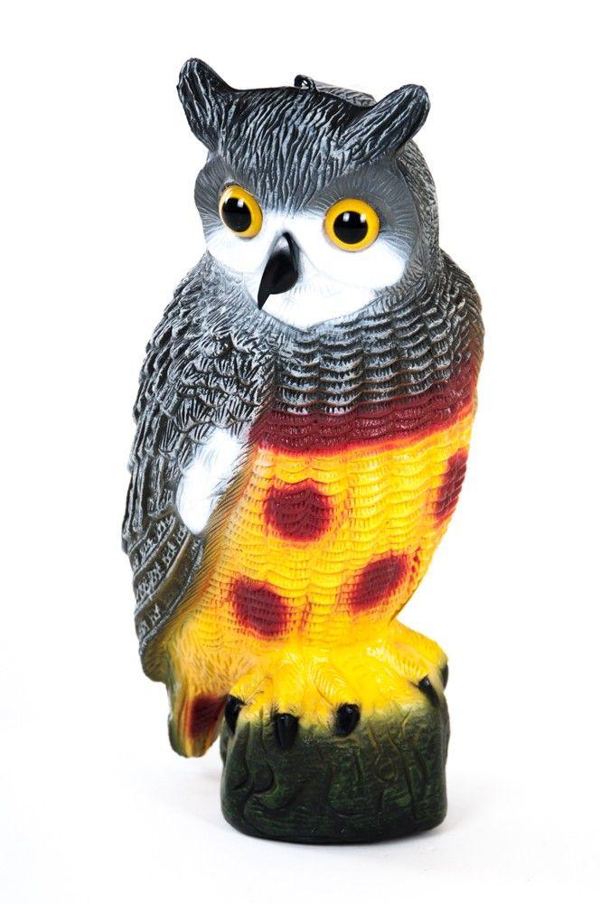 Eule zum Aufhängen Kunststoff Gartenfigur Gartendeko 40cm Skulptur Vogelscheuche