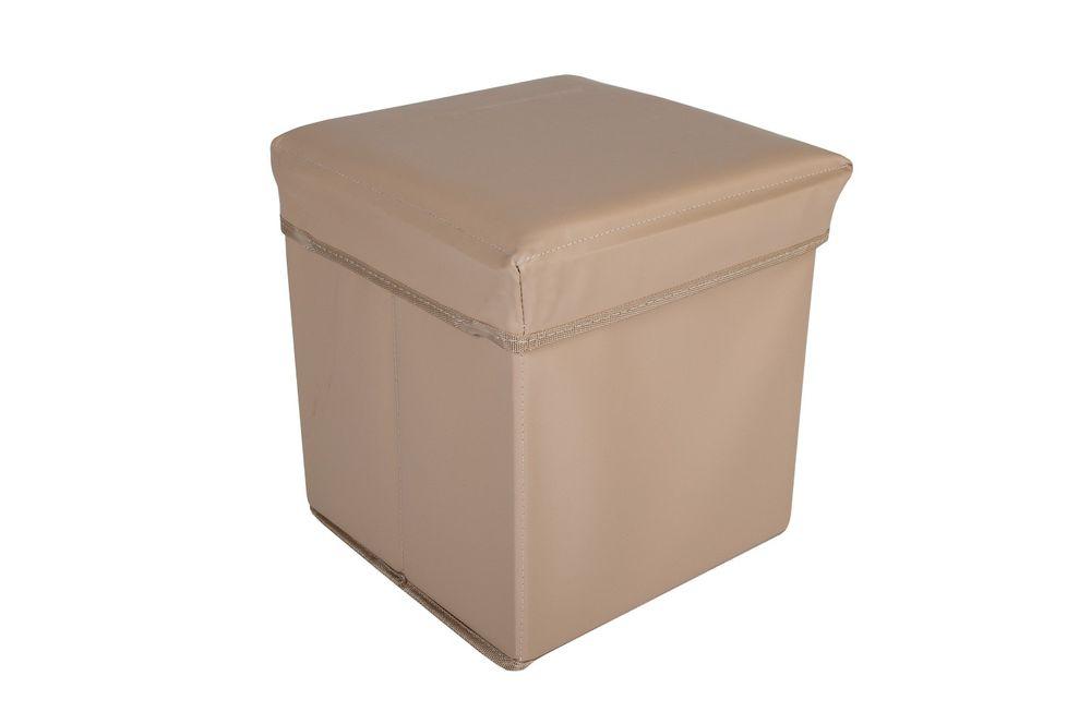 Faltbarer Sitzwürfel Aufbewahrungsbox Sitzhocker Sitzbank Truhe Fußbank 30x30x30 – Bild 4