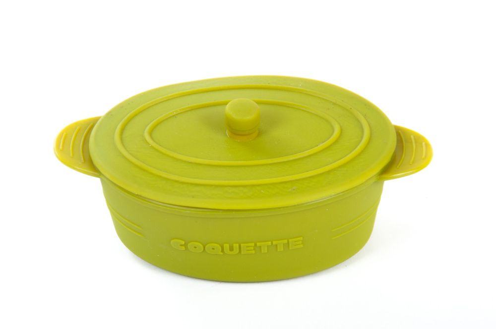Mini Kochgeschirr Silikon Cocotte Backform Auflaufform Kasserolle 240 ml Gratin – Bild 2