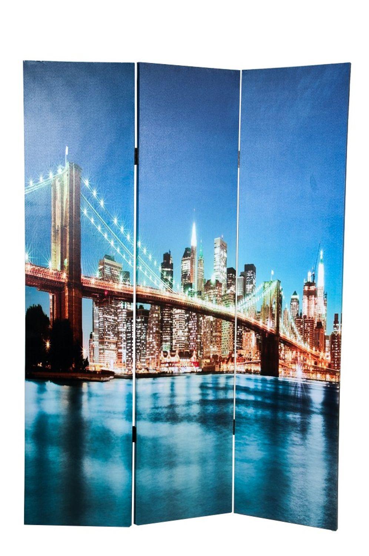 Foto Paravent 48 LEDs Trennwand Sichtschutz spanische Wand Umkleide Raumteiler