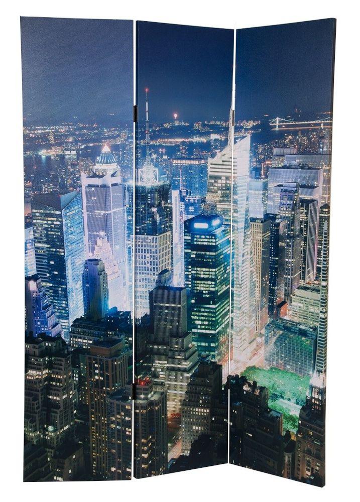 Foto Paravent 48 LEDs Trennwand Sichtschutz spanische Wand Umkleide Raumteiler  – Bild 3