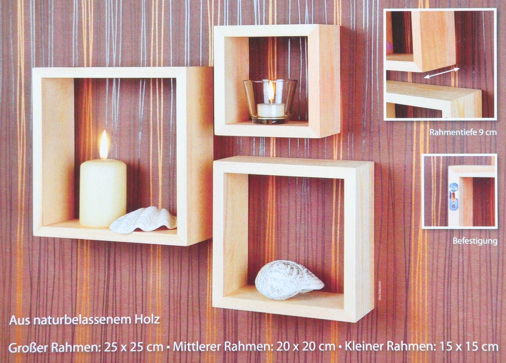 Wandregal oslo 3er set wandrahmen dekoration rahmen for Wandregal dekorieren