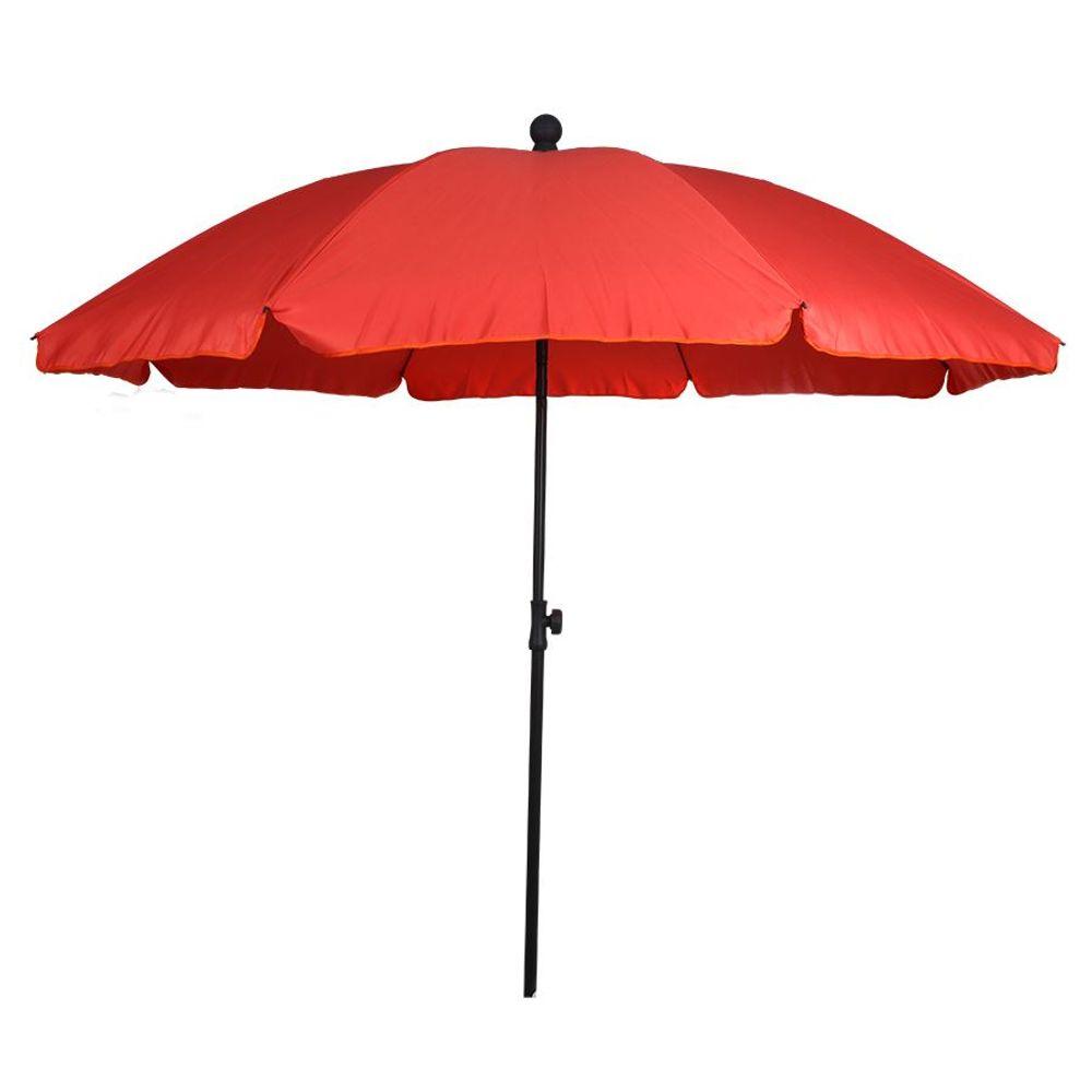 Sonnenschirm mit Knickgelenk 175cm Balkonschirm Terrassenschirm Strandschirm – Bild 3