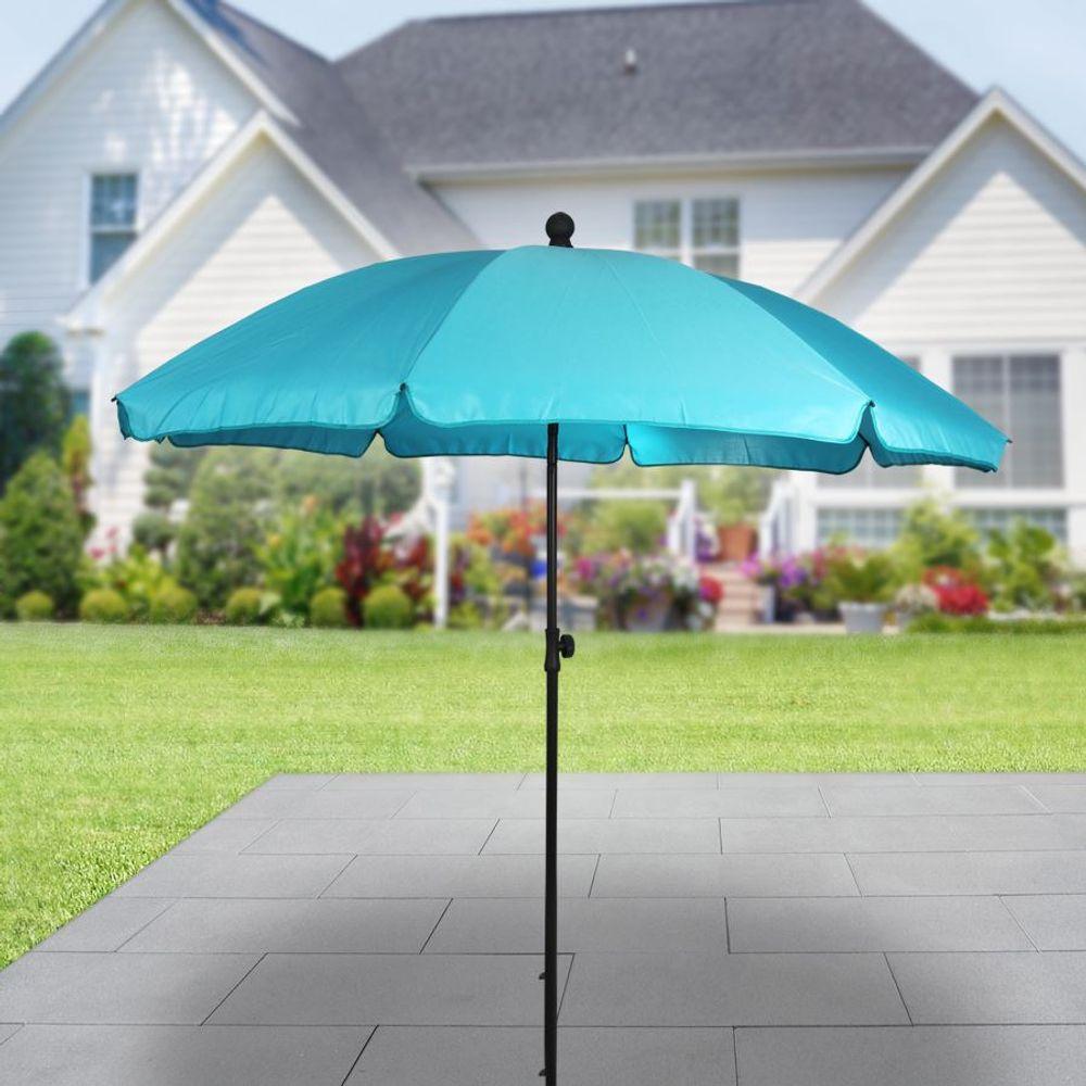 Sonnenschirm mit Knickgelenk 175cm Balkonschirm Terrassenschirm Strandschirm – Bild 11