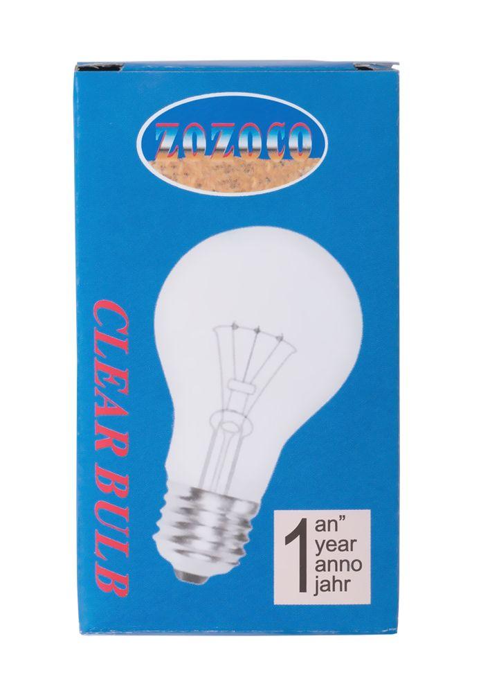 10x Zozoco Glühlampe E27 Birnenform Glühbirne 60 Watt klar Glowbulb  – Bild 3
