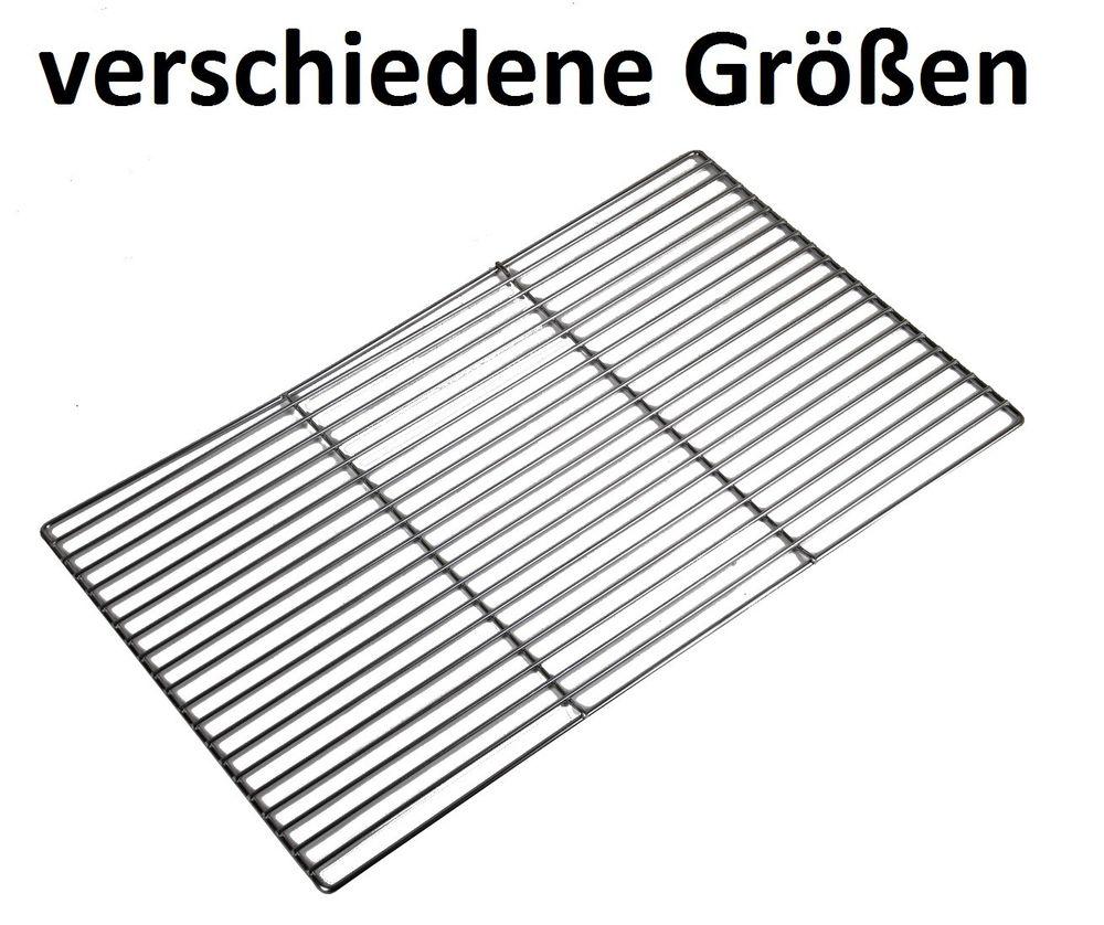 Grillrost eckig div. Größen Grillgitter verchromt Ersatzrost Rost Holzkohlegrill
