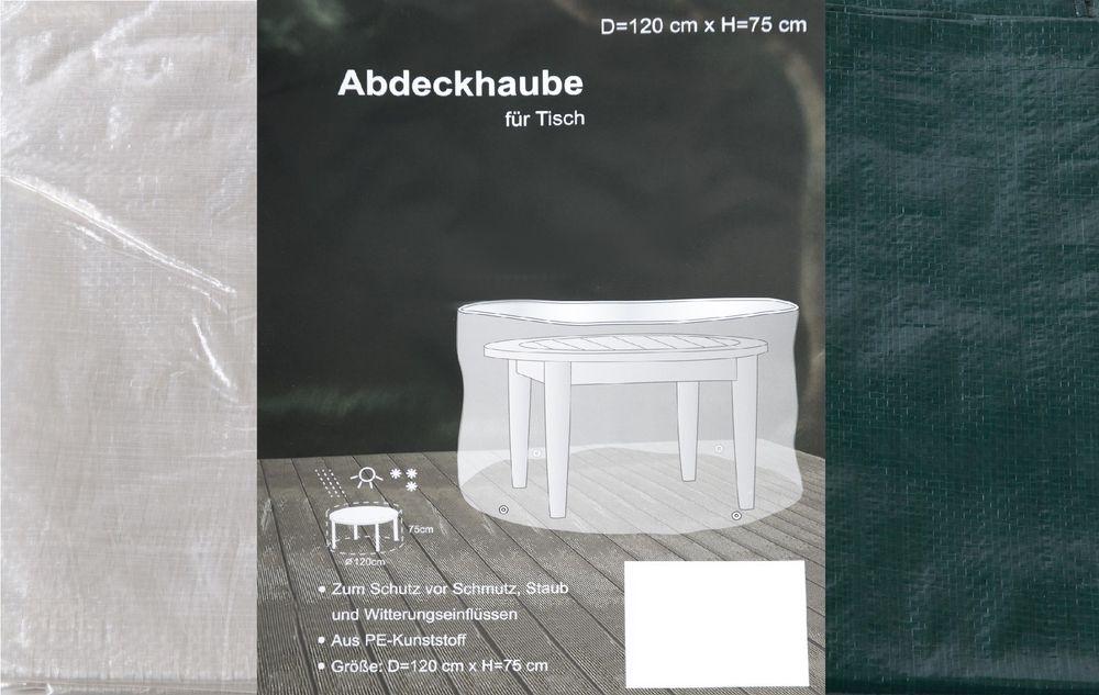 Abdeckhaube für Rundtisch 120x75cm Schutzhülle Abdeckplane Möbelabdeckung – Bild 1
