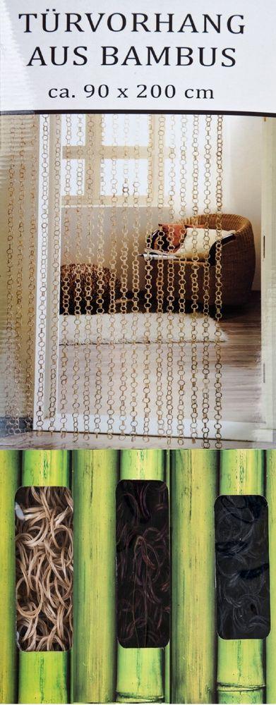Türvorhang aus Bambus Buddha Strings Dekovorhang Bambusvorhang Perlenvorhang Neu – Bild 1