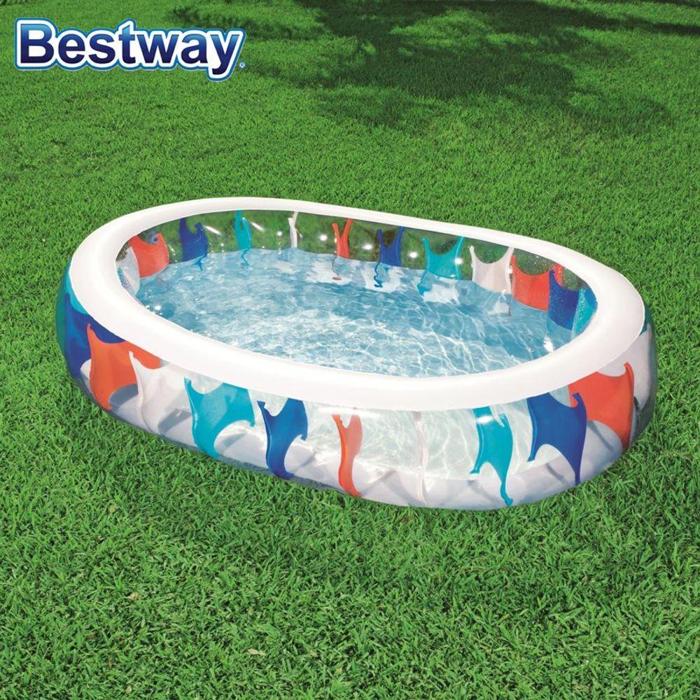 Pool Elliptic Schwimmbecken Swimmingpool Gartenpool Planschbecken 229x152x51cm  – Bild 1