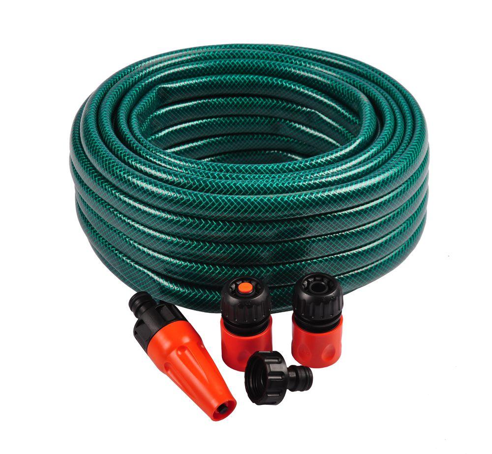 Gartenschlauch-Set 5tlg. Wasserschlauch 20m 1/2 Zoll Schlauch Bewässerungsset