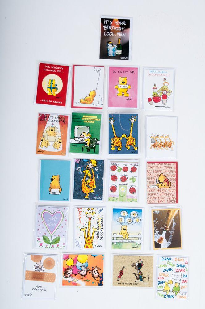 252x Grußkärtchen Grußkarten Mini-Postkarten Glückwunschkarten Geschenkkarten – Bild 1