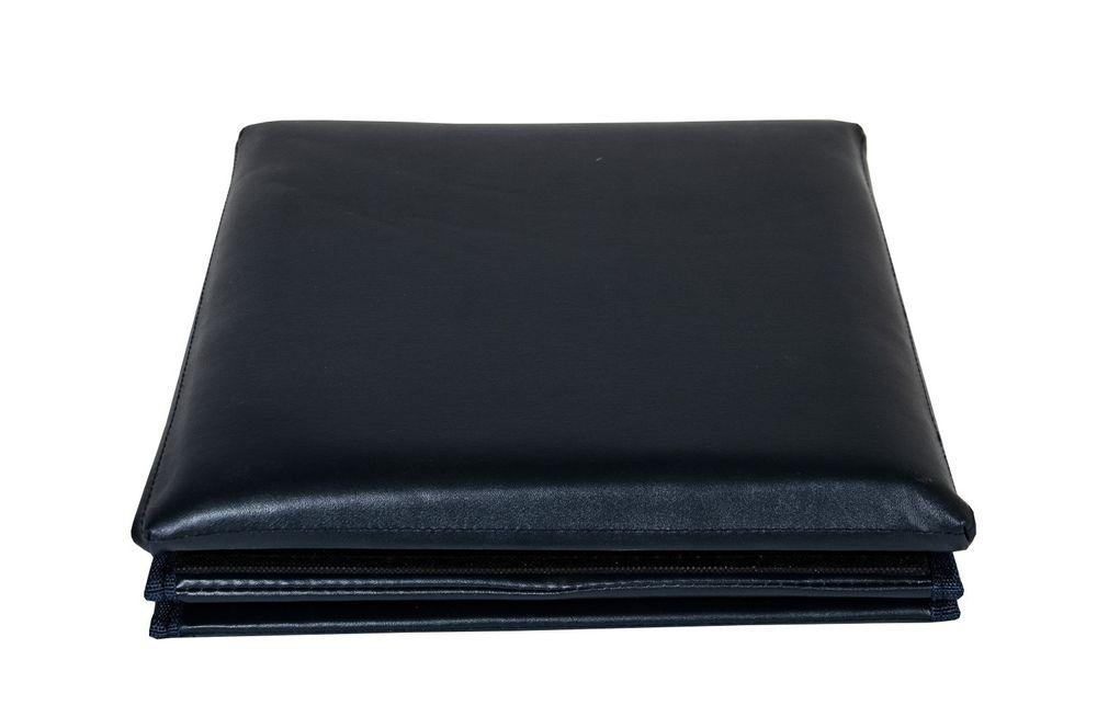 Faltbarer Sitzwürfel Aufbewahrungsbox Sitzhocker Sitzbank Box Fußbank dunkelblau – Bild 4
