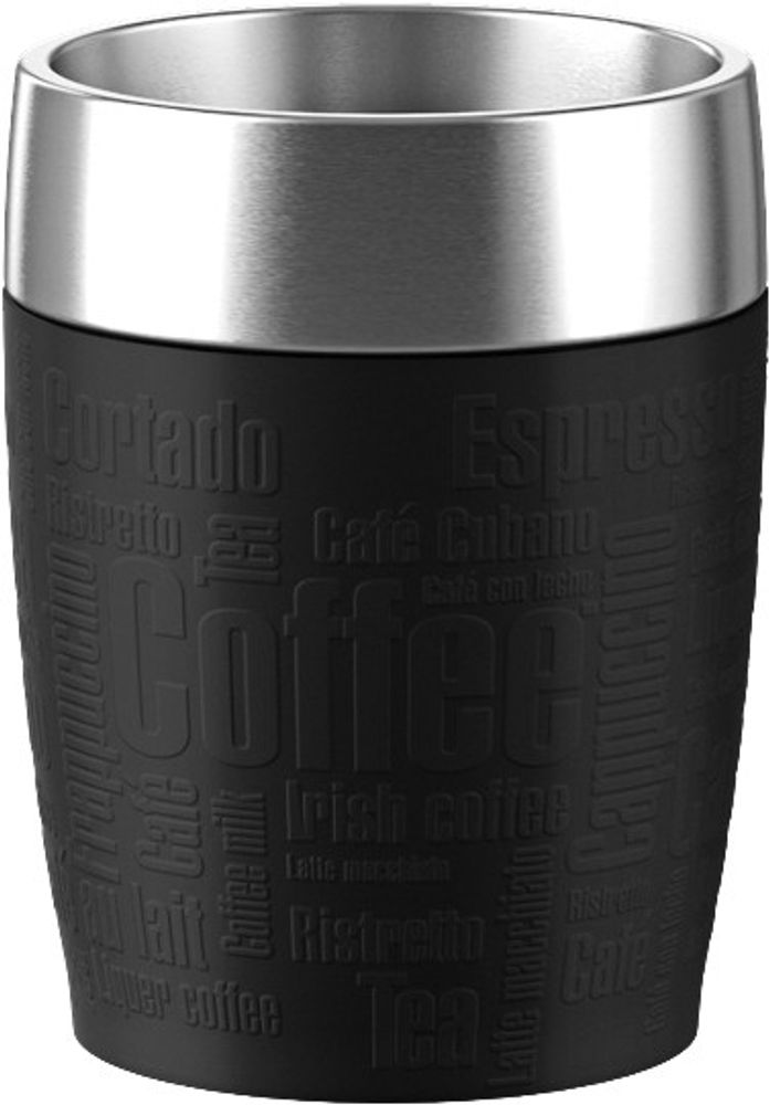 "emsa Isolierbecher ""Travel Cup"" 514514 Travel Cup 0,2l.schwarz"
