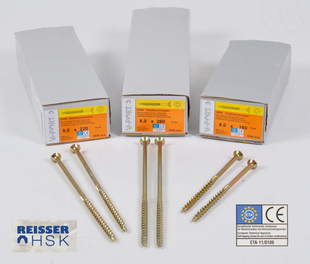 Reisser HSK Holzschrauben Vi-Port Q500 Torx Spanplattenschrauben TX40 Senkkopf – Bild 1