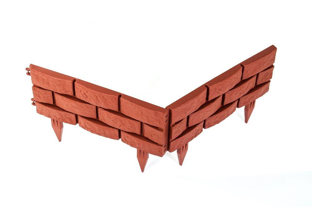 Mauer-Set Beetumrandung Beeteinfassung 6,8 m Rasenkante Raseneinfassung Palisade – Bild 4