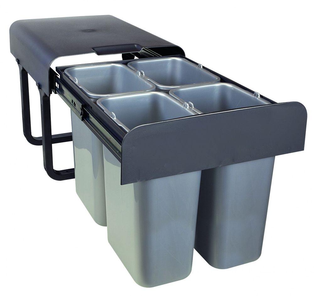 4-Fach Abfallsammler