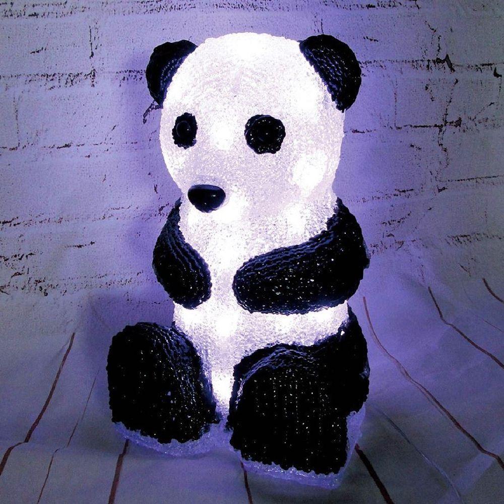 LED-Dekofigur Panda Leuchtfigur Dekoration Pandabär Leuchtdeko Licht Acryl