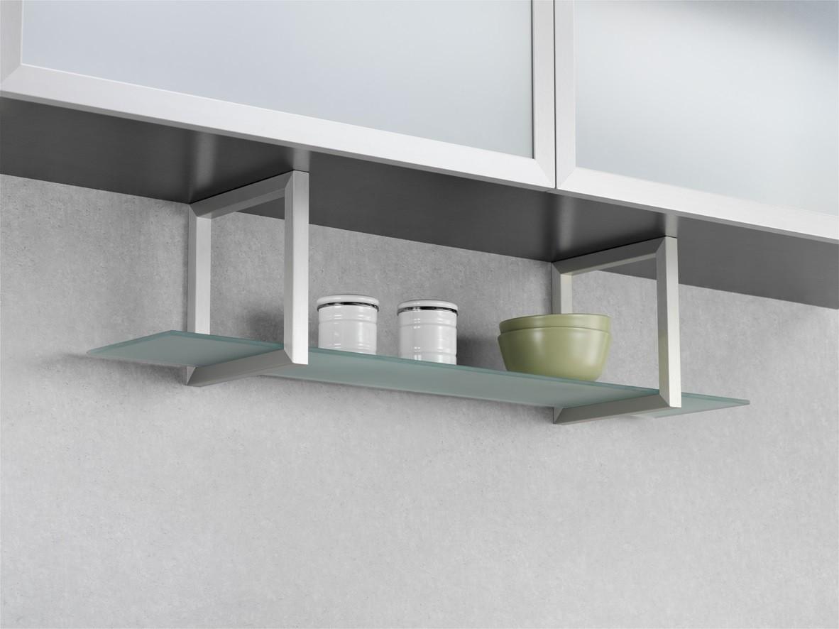 wesco regal unterbau glasregal aluminium edelstahl küchenregal