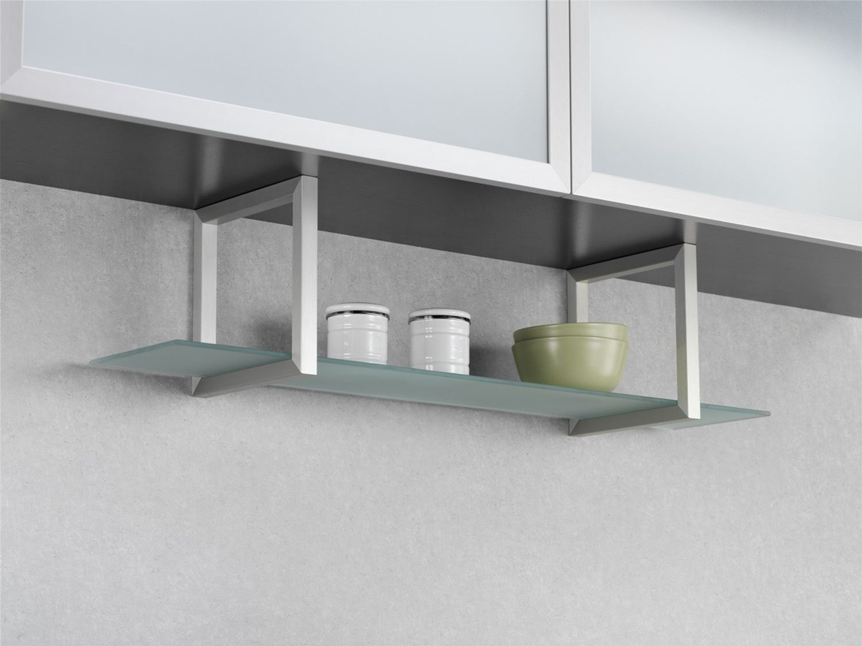 wesco regal unterbau glasregal aluminium edelstahl k chenregal badregal nischen m bel wohnen. Black Bedroom Furniture Sets. Home Design Ideas