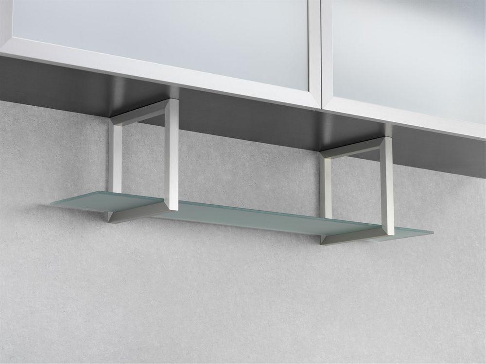 Wesco Regal Unterbau Glasregal Aluminium Edelstahl Küchenregal Badregal Nischen – Bild 1