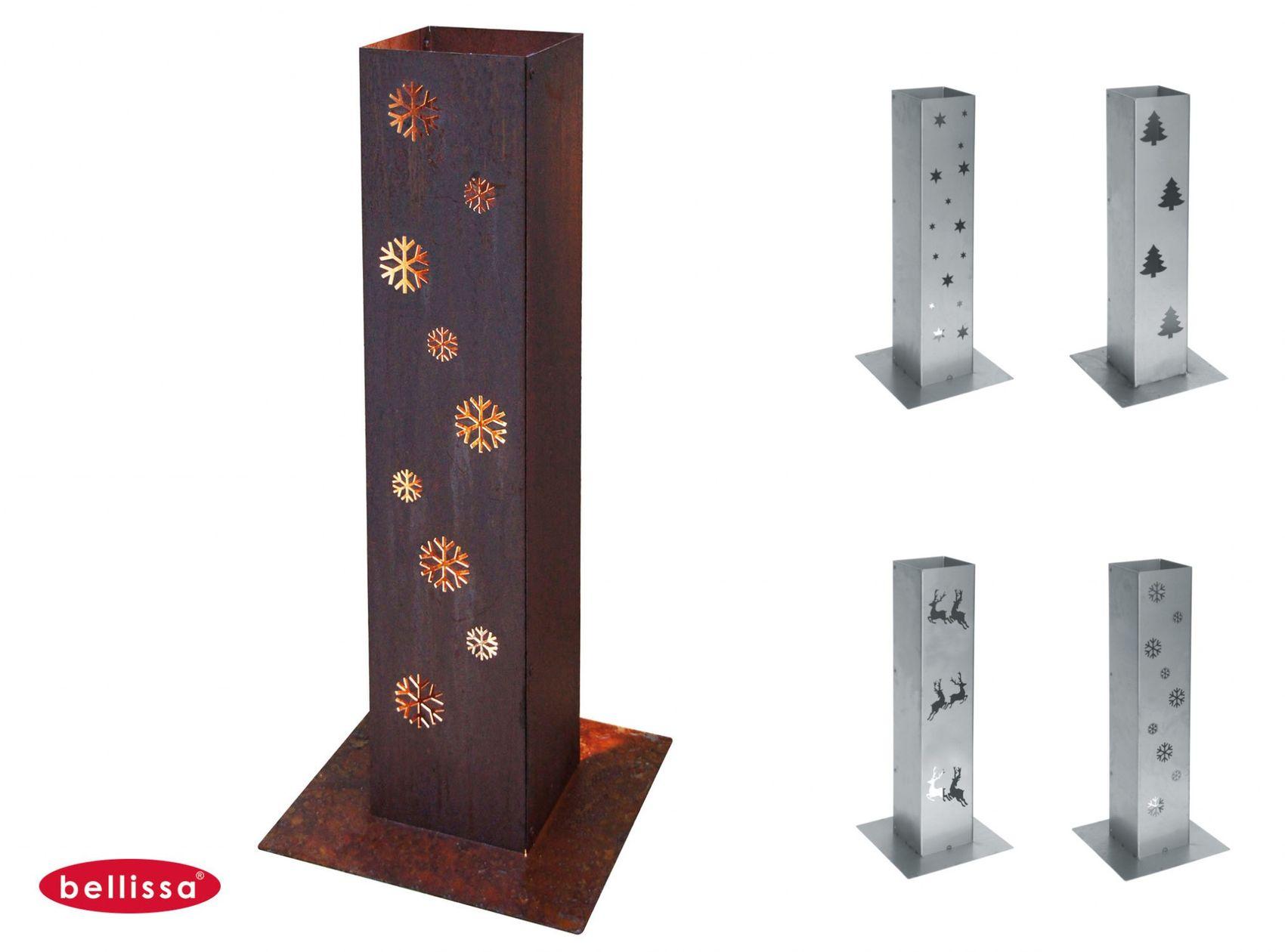 Bellissa corten feuers ule 70cm lichts ule windlicht for Edelstahl dekoration metalldekoration