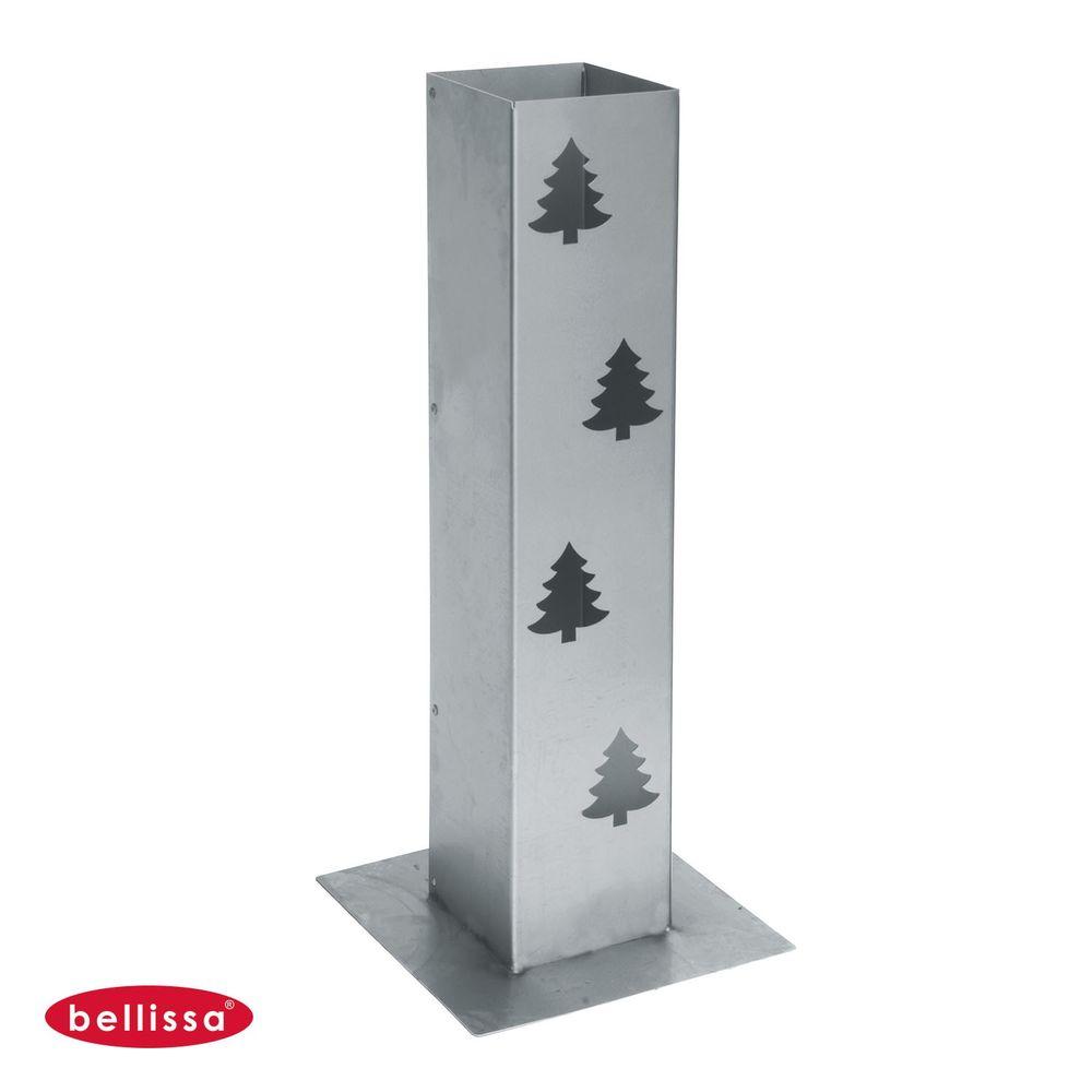Bellissa® Corten Feuersäule 70cm Lichtsäule Windlicht Säule Garten Terrasse Deko – Bild 5