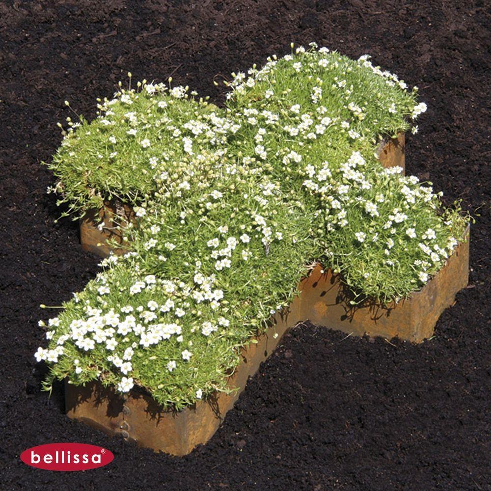 2x Bellissa® Corten Kreuz 33 x 25 cm Pflanzkreuz Grabschmuck Umrandung Edelrost  – Bild 2