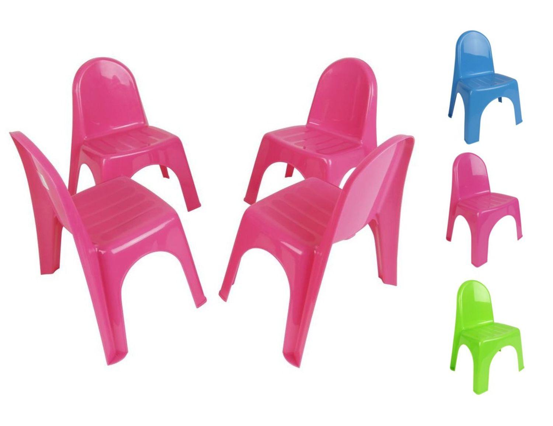 kinderstühle 4er-set stapelstühle gartenstühle stuhl kleinkind sitz