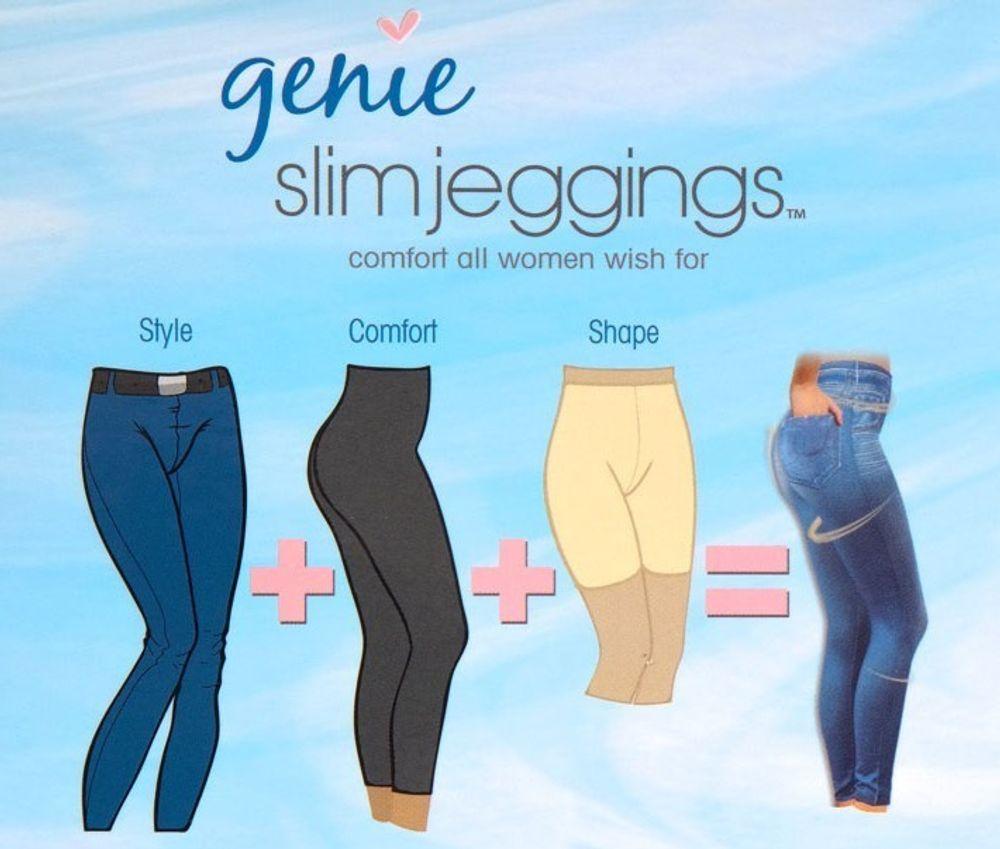 Slim Jeggings 3 Stk Größe M mit SLIM EFFEKT Jeansleggings Jeansoptik Jeans Leggings – Bild 4