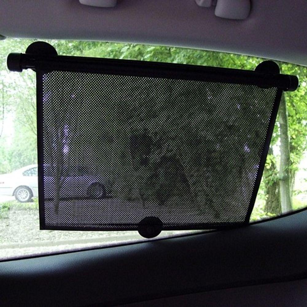 Auto-Sonnenschutz-Rollos 2er-Set für Seitenscheiben Sichtschutz Sonnenblende PKW – Bild 1