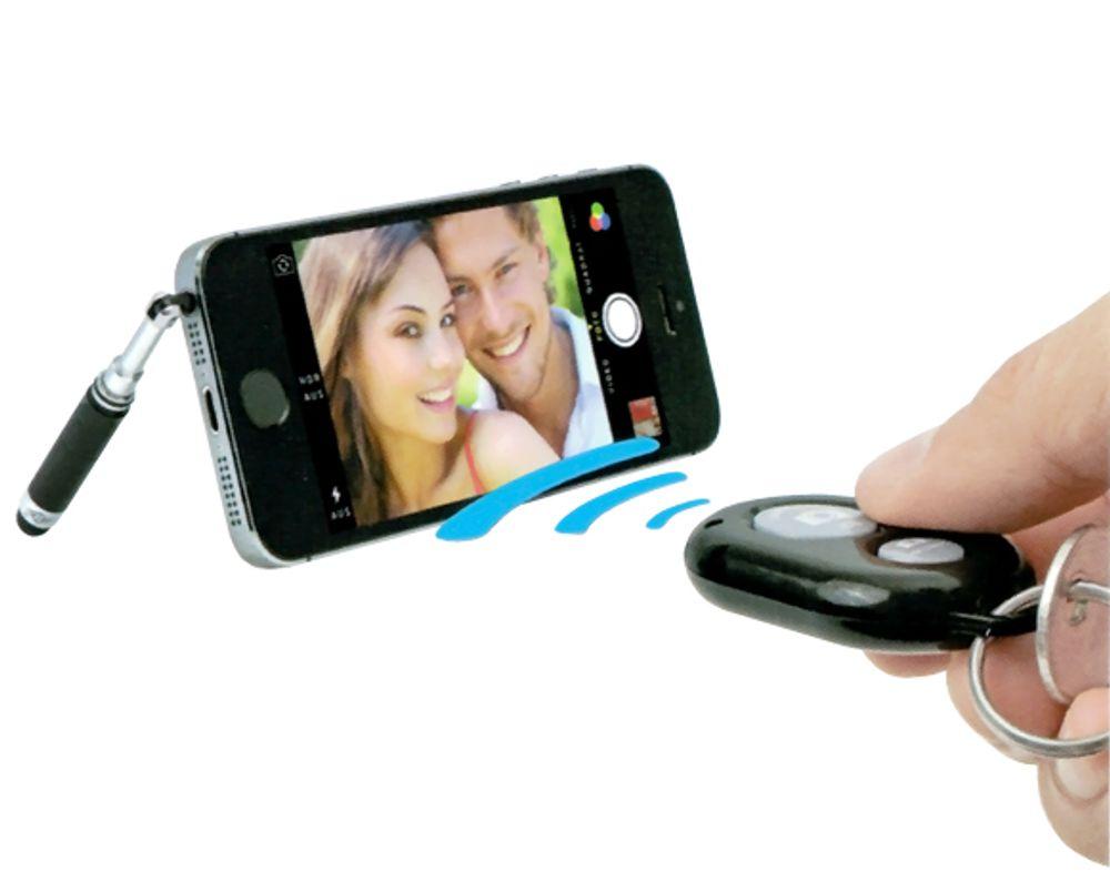 WEDO Selfie Maker Fernauslöser + TouchStand® Teleskopständer Smartphone iPhone  – Bild 1