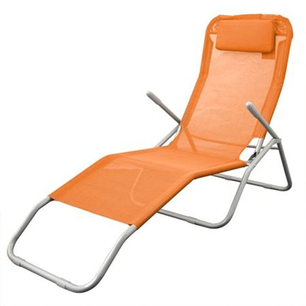 Bäderliege Grömitz orange pastell Relaxliege Sonnenliege Bäderliege Saunaliege