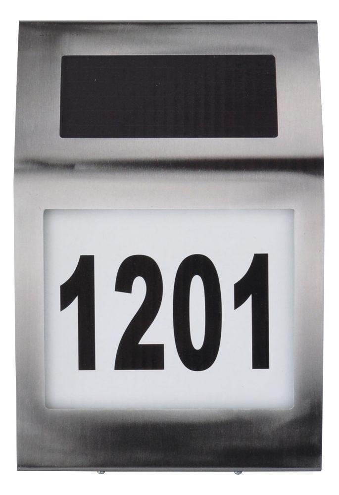 Design-Solar-Hausnummer mit LED-Beleuchtung Edelstahl Glas Hausnummernleuchte  – Bild 2