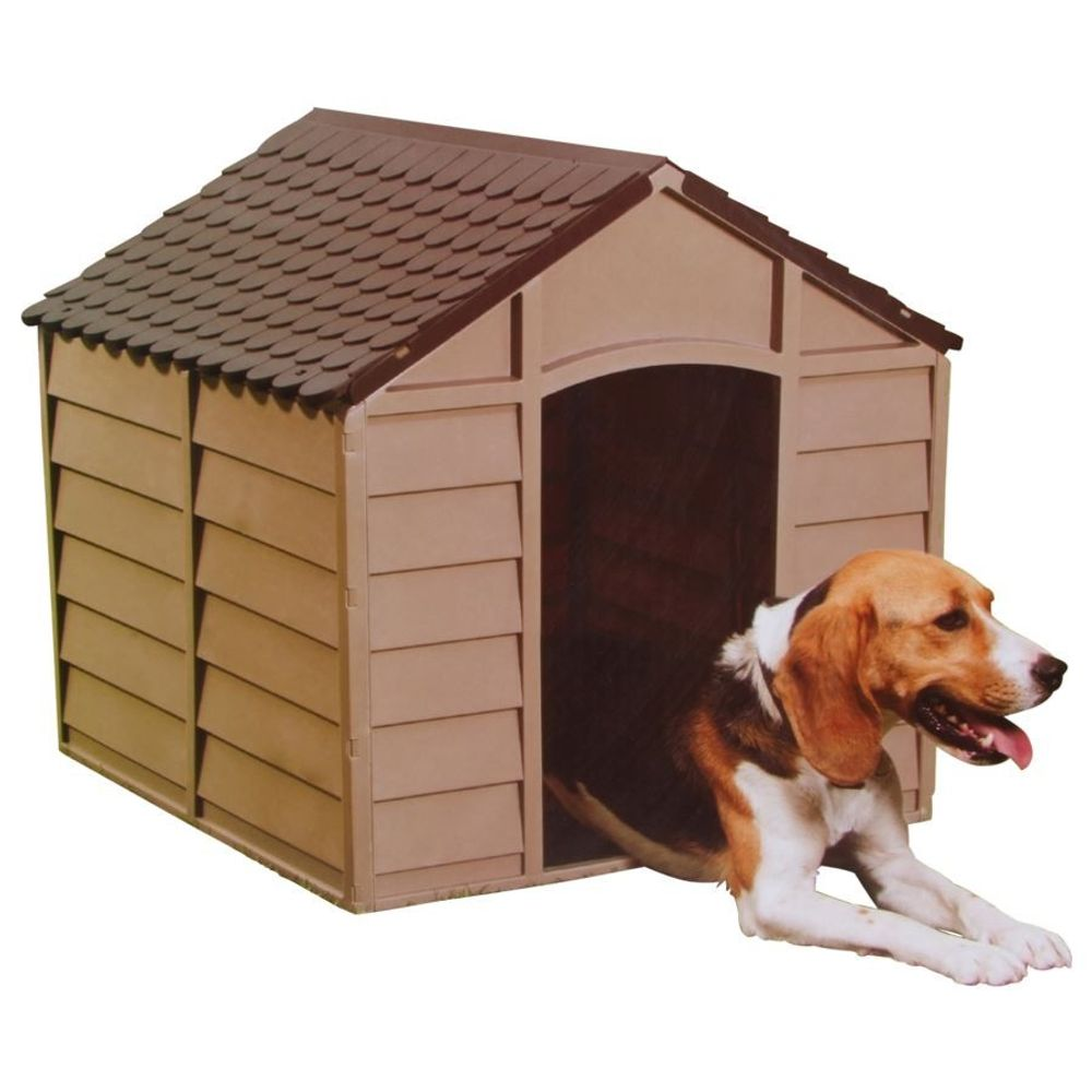 Hundehütte mit Boden Hundehaus Hundezwinger Tierhaus Hund Haus Hütte Höhle Box  – Bild 1
