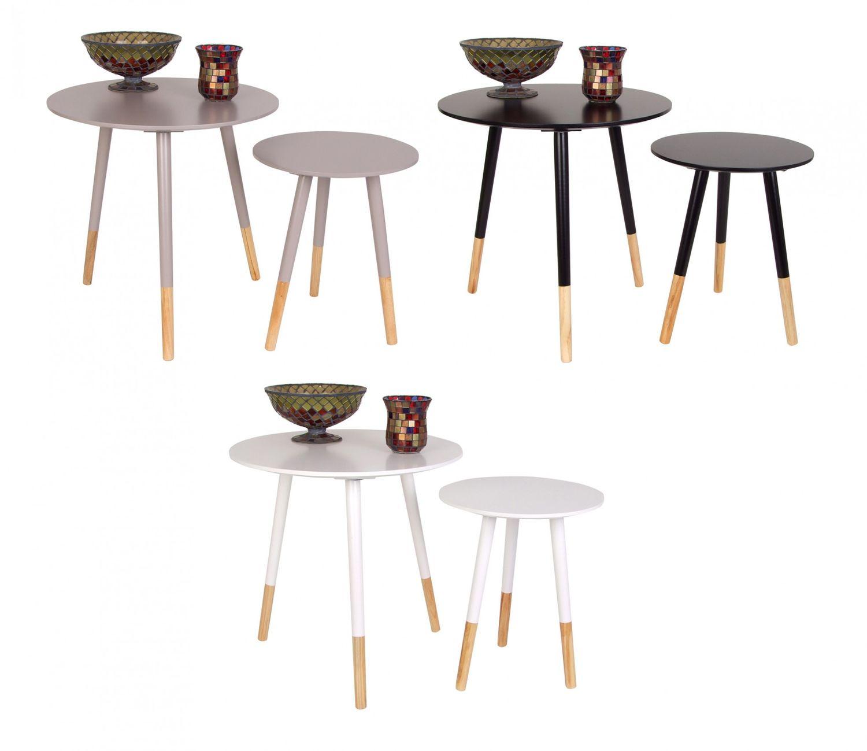 Beistelltische 2er Set Holztisch Couchtisch Dekotisch Wohnzimmer